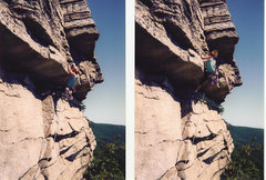 Rock Climbing Photo: Pulling the move