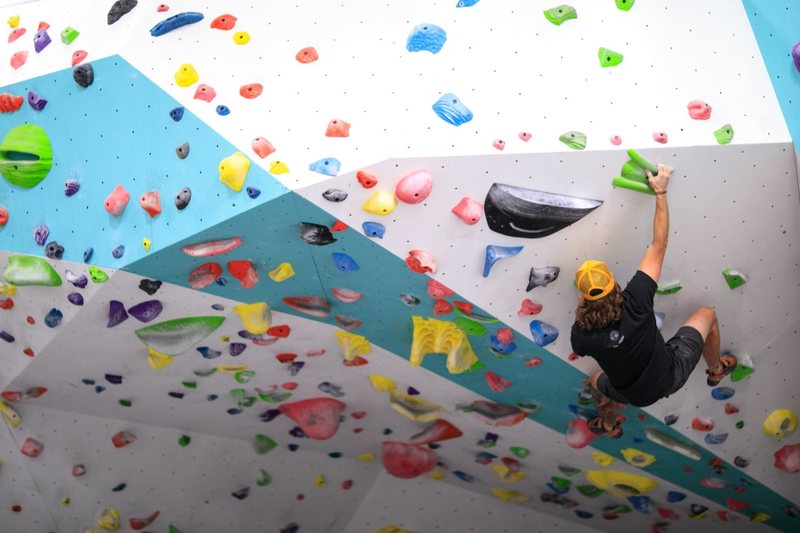 Top out boulder with overhang