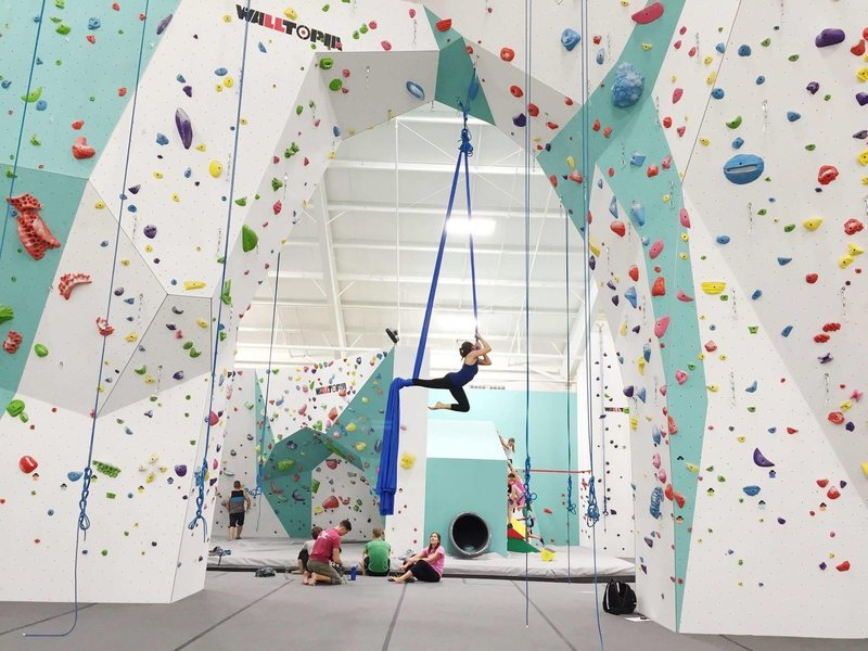 Rock Climbing Photo: Aerial silks session