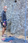 Rock Climbing Photo: Set an anchor for top roping, tie into the top rop...