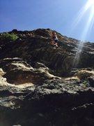 Rock Climbing Photo: Sam in Clear Creek