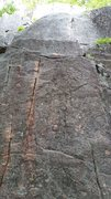 Rock Climbing Photo: Start of Gunklandia -- discontinuous orange cracks...