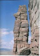 Rock Climbing Photo: FA Anubis Tower San Rafael Swell (North) .Dog Pond...