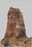 Rock Climbing Photo: FA Arch Tower. San Rafael Swell (North)  With Crus...