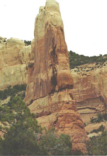 FA Tranquilty Tower . Joe Wilson Canyon Utah . Paul Ross Gene Vallee .2000
