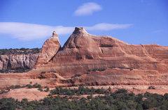 Rock Climbing Photo: FA King Arthur's Seat. Joe Wilson Canyon Utah....