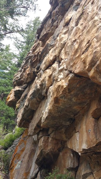 Rock Climbing Photo: If you stare at this photo long enough, the bolts ...