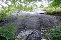 Rock Climbing Photo: Surveyer's Route (The Flake), start