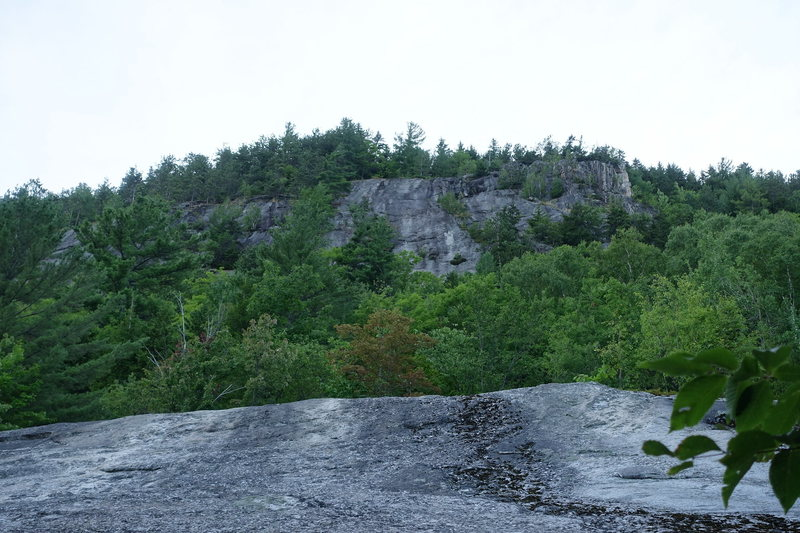 Rock Climbing Photo: As seen from the base of the cliff, on the far rig...