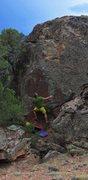 Rock Climbing Photo: Start beta of High Voltage.
