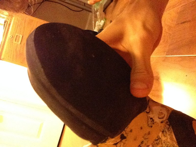 Toe of other shoe