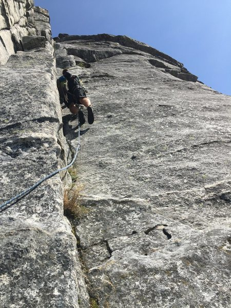 Rock Climbing Photo: Leading pitch 2 of Haystack