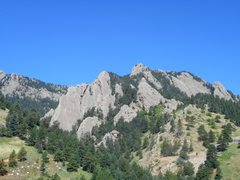 Rock Climbing Photo: Entrance to Skunk Canyon. Flatirons.