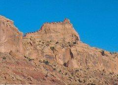 Rock Climbing Photo: FA The Sphinx . Calf Mesa . San Rafael Swell (Nort...
