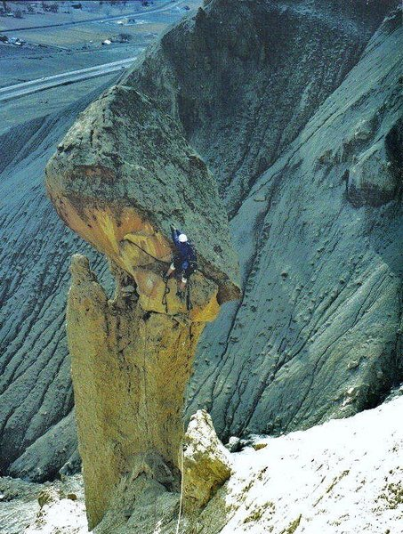 Rock Climbing Photo: FA . Alpha Tower .Palisade CO. With Paul Gardner 2...