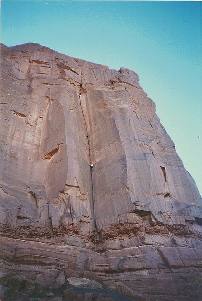 Rock Climbing Photo: FA The Gift . Tombstone Butte .Bartlett Area Moab....
