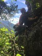 Rock Climbing Photo: second pitch arete