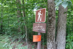 Rock Climbing Photo: At the parking lot, hike 0.9 mile on dirt road to ...