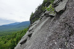 Rock Climbing Photo: Side view of the left side of the cliff.