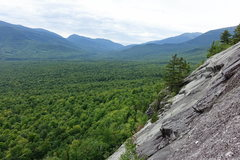 Rock Climbing Photo: Another view left from higher up with Pinkham Notc...