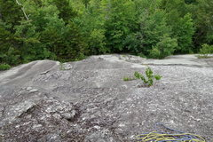 Rock Climbing Photo: Looking down the first pitch of Contact (center an...