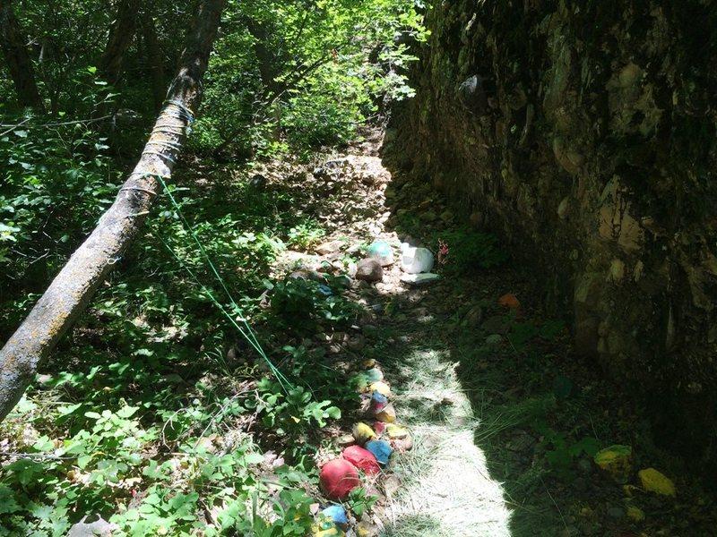 Rock Climbing Photo: Maple canyon vandalism