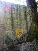 Rock Climbing Photo: Pipeline boulder vandalism