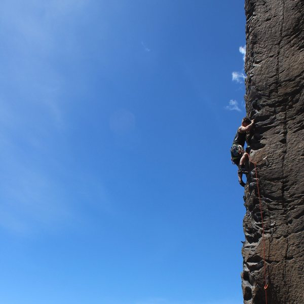 Rock Climbing Photo: Unreal views from this climb... winds were picking...