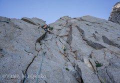 Rock Climbing Photo: Chaz on a fun 4th pitch