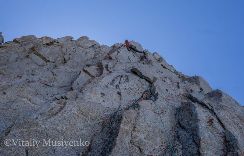 Rock Climbing Photo: Vitaliy on Pitch 5