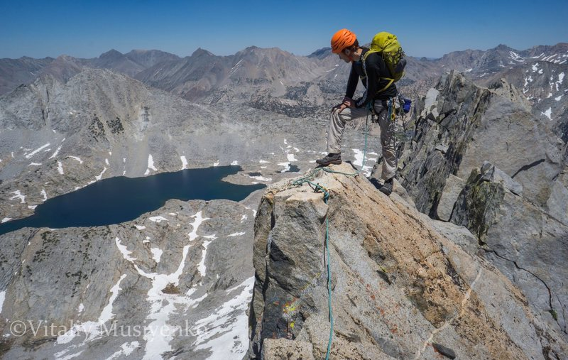 Rock Climbing Photo: On the summit ridge