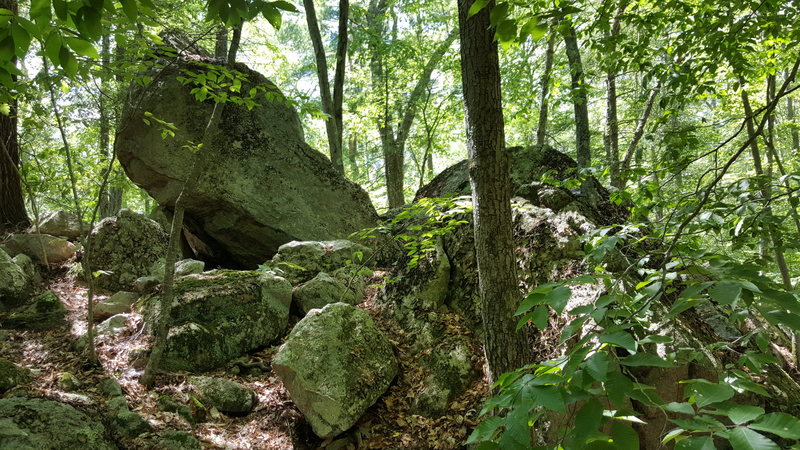 Rock Climbing Photo: The two main boulders are on the left and right.