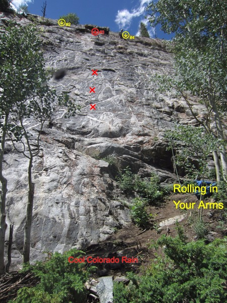 Rock Climbing Photo: Just trying to show how close these all are.
