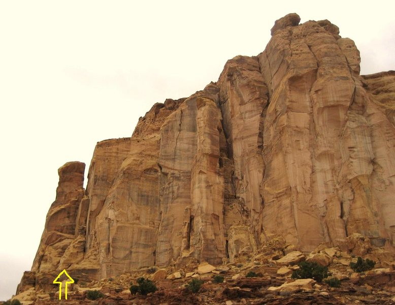 "FA. ""Little Weasel Tower"" Weasel Formation . San Rafael Swell(North)Utah. Paul Ross Layne Potter 2008"