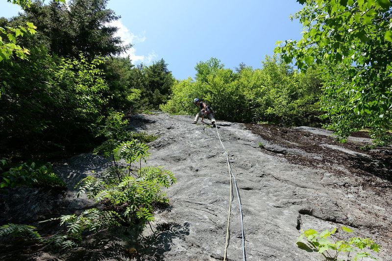 Rock Climbing Photo: The Road North (5.8), start