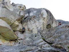 Rock Climbing Photo: Pitch 1 of The Valkyrie.