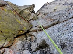 Rock Climbing Photo: Corner on Pitch 1 of The Valkyrie.