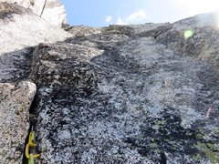 Rock Climbing Photo: Pitch 2 finishes with a bit of face. There are jus...