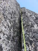 Rock Climbing Photo: Hand/fist crack on on the second half of Pitch 4 o...