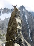Rock Climbing Photo: Janet on top of Aasgard Sentinel. Both Acid Baby a...