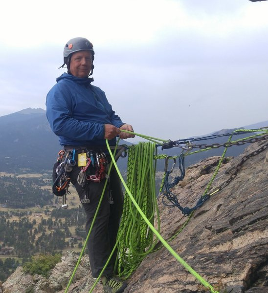 Belaying the second pitch.