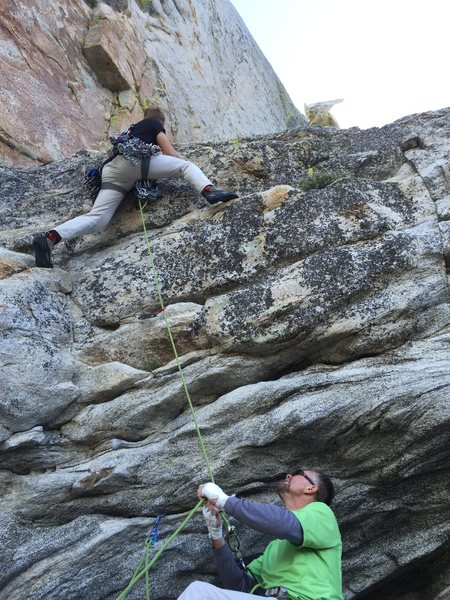 Rock Climbing Photo: Starting out on the Awesome 1st pitch of the Open ...