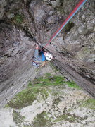 Rock Climbing Photo: Tom Hudson following Cenotaph Corner (E1 5c), Dina...