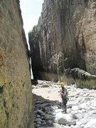 Rock Climbing Photo: Huntsman's Leap, Pembroke, Wales