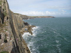 Rock Climbing Photo: The Great Valerio (E1 5a), Carreg - y - Barcud, Pe...