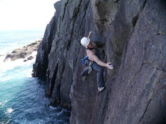 """Rock Climbing Photo: Justin on """"Son of Zombie Mummers"""""""