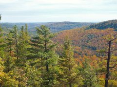 Rock Climbing Photo: Tick looking south, Little Huron river valley is b...