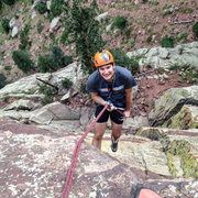 Rock Climbing Photo: Rappelling in Eldo