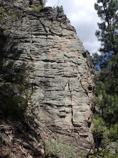 Rock Climbing Photo: Outer West Face of Hidden Slot from the approach t...