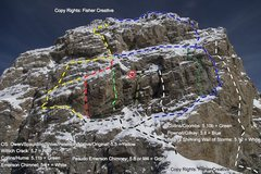 Rock Climbing Photo: Grand Teton: West Face: Summit: Normal Routes.